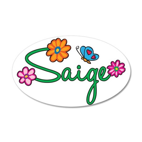 Saige 35x21 Oval Wall Decal