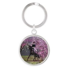 dressage horse 7x9 Round Keychain