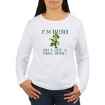 Free Beer? Women's Long Sleeve T-Shirt