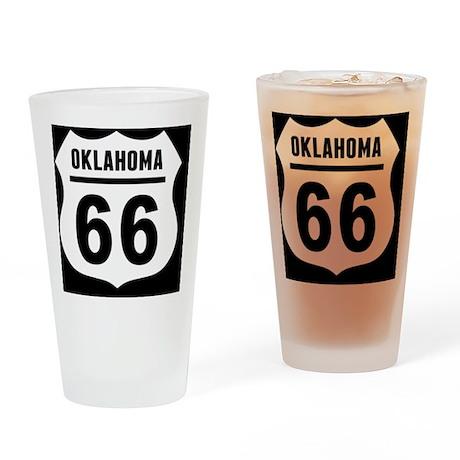 rt66-plain-ok-OV Drinking Glass