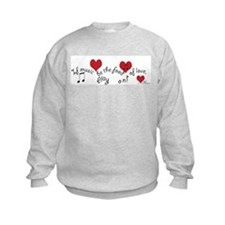 Food of Love Sweatshirt