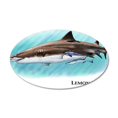 Lemon Shark 35x21 Oval Wall Decal