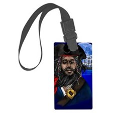 Pirate and Ship PosterP Luggage Tag