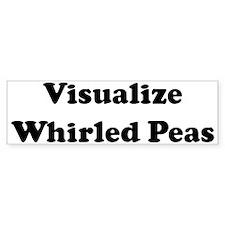 Visualize Whirled Peas Bumper Car Sticker