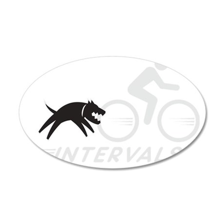 big dog intervals drk 35x21 Oval Wall Decal