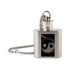 yingyang iphone4 slider_case Flask Necklace