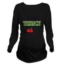 1_LookThrice Long Sleeve Maternity T-Shirt