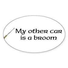 broom bumper sticker Decal