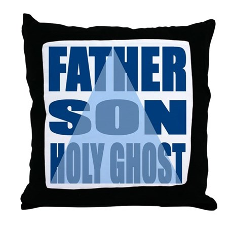Dark Blue Trinity Throw Pillow