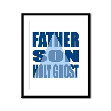 Dark Blue Trinity Framed Panel Print