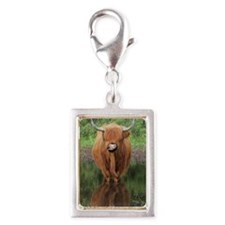 Standard Highland cow head o Silver Portrait Charm