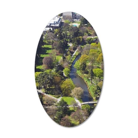 Avon River and Botanic Garde 35x21 Oval Wall Decal