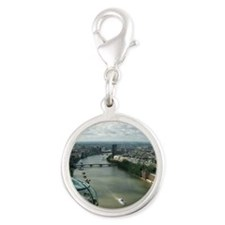 A London Eyes View Silver Round Charm
