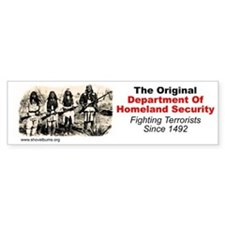 Geronimo - Fighting Terrorism Since 1492 Bumper Sticker