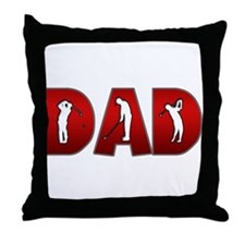 Golfing Dad Throw Pillow