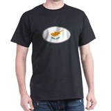 Cyprus Oval Flag T-Shirt
