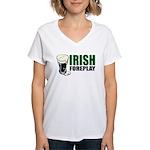 Irish Foreplay Green Women's V-Neck T-Shirt