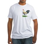 Blue Gold DW Cock Fitted T-Shirt