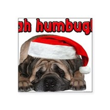 "bah-humbug-greetingcard Square Sticker 3"" x 3"""