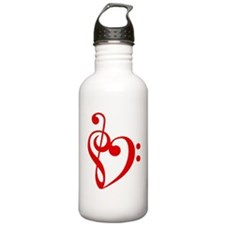 Heart1a-Red Water Bottle