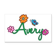 Avery Rectangle Car Magnet