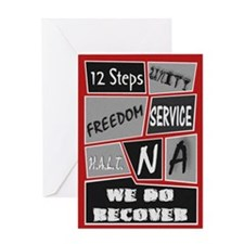 NA 12 Steps Posters Greeting Card
