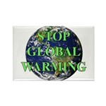 Stop Global Warming Rectangle Magnet (100 pack)