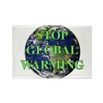 Stop Global Warming Rectangle Magnet (10 pack)