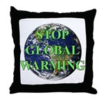 Stop Global Warming Throw Pillow