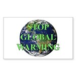 Stop Global Warming Rectangle Sticker
