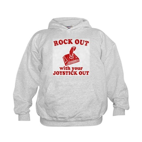 Rock Out With Your Joystick O Kids Hoodie