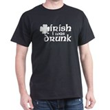 Irish I Was Drunk Shamrock T-Shirt