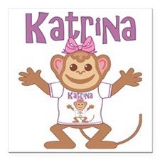 "katrina-g-monkey Square Car Magnet 3"" x 3"""