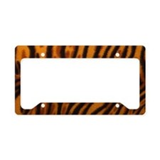 tiger-print License Plate Holder