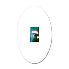 black lab-santa-journal-2 20x12 Oval Wall Decal