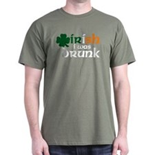 Irish I Was Drunk Tri-color T-Shirt