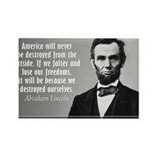 Lincoln Quote Aneruca Rectangle Magnet