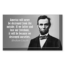 Lincoln Quote Aneruca Decal