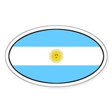 Argentina Oval Flag Oval Decal