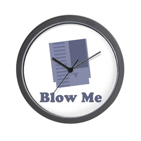 Blow Me Wall Clock