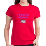 I'M WITH THE DRUMMER Women's Dark T-Shirt
