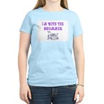I'M WITH THE DRUMMER Women's Light T-Shirt
