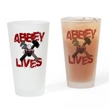 abbey_lives_black Drinking Glass