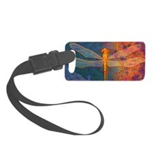 clutchFlamingDragonfly Luggage Tag