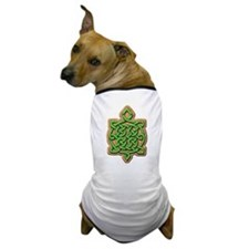 Celtic Turtle Art Dog T-Shirt