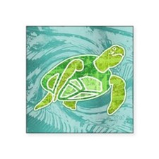 "squareSeaTurtle2 Square Sticker 3"" x 3"""