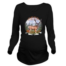 Mule deer hunter Long Sleeve Maternity T-Shirt