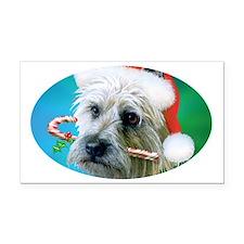 Cairn Terrier Santa-ceramic m Rectangle Car Magnet