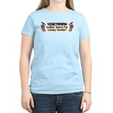 """Vegetarian"" Women's Color T-Shirt"