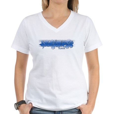 Island Hibiscus Filipina Women's V-Neck T-Shirt